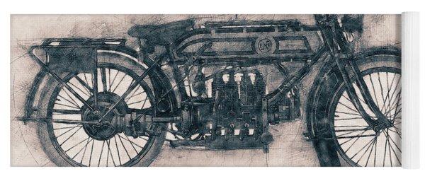 Fn Four - Fabrique Nationale - 1905 - Motorcycle Poster - Automotive Art Yoga Mat