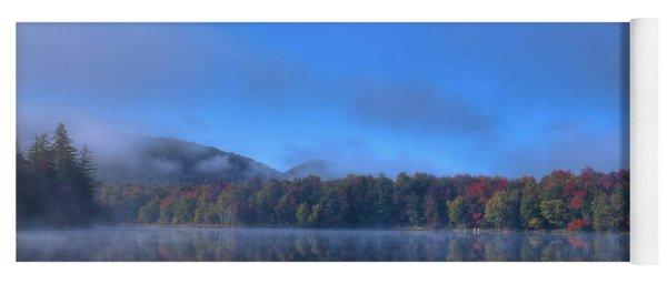 Fog Lifting On West Lake Yoga Mat