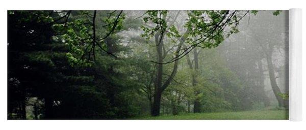 Fog On The Green Yoga Mat