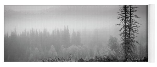 Fog On The Mountains Yoga Mat