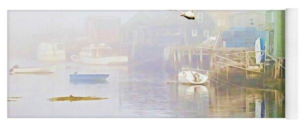 Fog Over West Dover - Digital Paint Yoga Mat