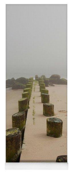 Fog Sits On Bay Head Beach - Jersey Shore Yoga Mat