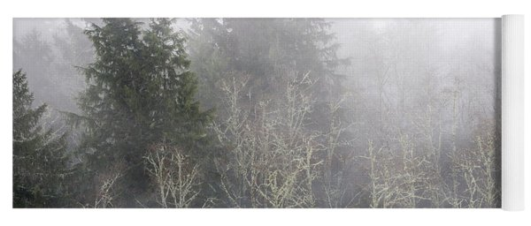Foggy Alders In The Forest Yoga Mat