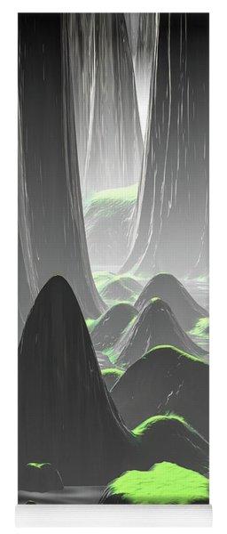Foggy Canyon Walls Yoga Mat