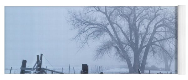 Foggy Country Morning Yoga Mat