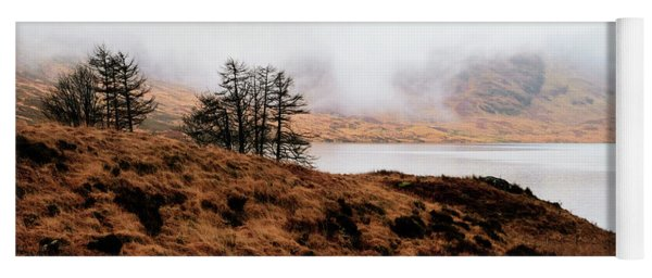 Foggy Day At Loch Arklet Yoga Mat