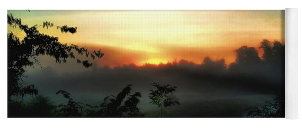 Foggy Edges Sunrise Yoga Mat