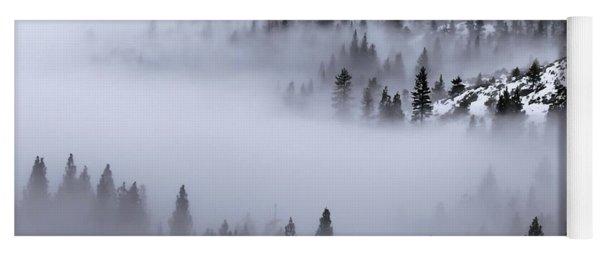 Foggy Mountain Pass Yoga Mat