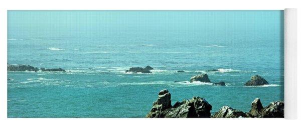 Sunny Blue Pacific Ocean Along The Oregon Coast Yoga Mat