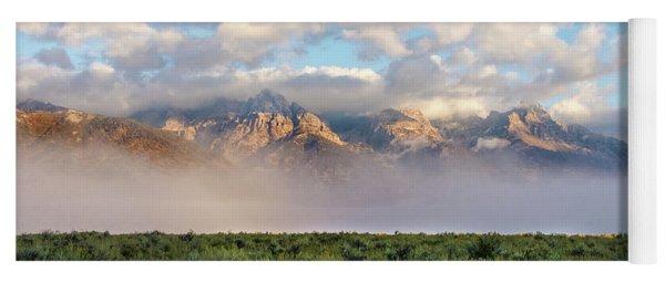Foggy Teton Sunrise - Grand Tetons National Park Wyoming Yoga Mat
