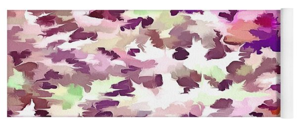 Foliage Abstract Pop Art In Ultra Violet And Fuchsia Pink Yoga Mat