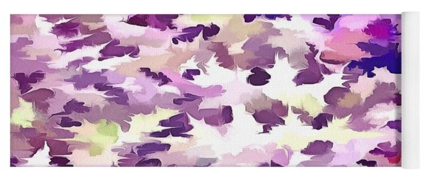 Foliage Abstract Pop Art In Ultraviolet Purple And Lilac Yoga Mat