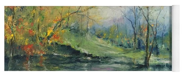 Foliage Flames On The River Yoga Mat