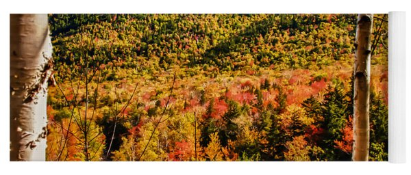 Foliage View From Crawford Notch Road Yoga Mat