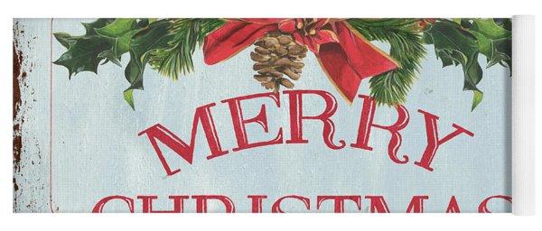 Folk Merry Christmas Yoga Mat