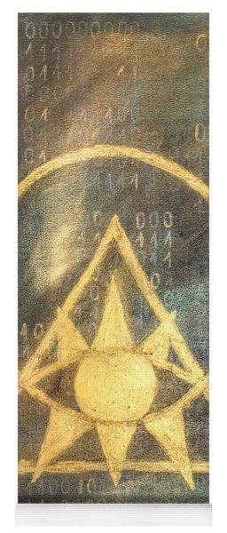 Follow The Light - Illuminati And Binary Yoga Mat