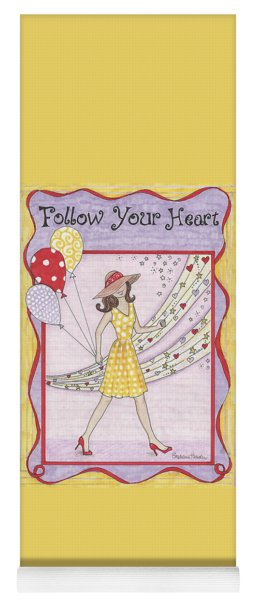 Follow Your Heart Yoga Mat