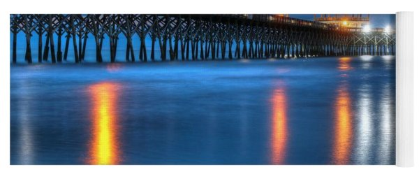 Folly Beach Pier At Blue Hour Charleston South Carolina Yoga Mat