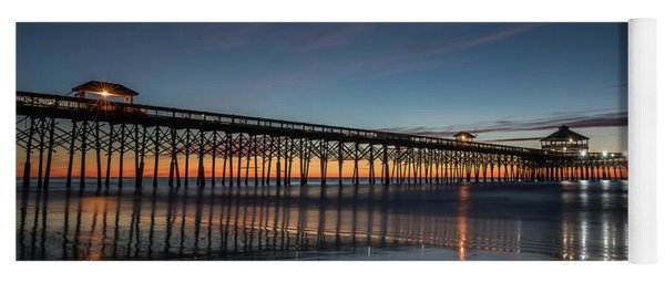 Folly Beach Pier Before Sunrise Yoga Mat