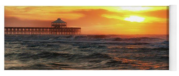 Folly Beach Pier Sunrise Yoga Mat