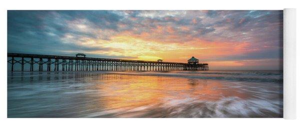 Folly Beach Sc Ocean Seascape Charleston South Carolina Scenic Landscape Yoga Mat