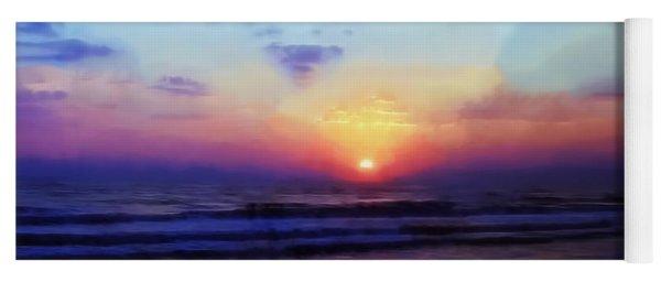 Folly Beach South Carolina Sunrise Yoga Mat