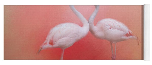 Fond Flamingos Yoga Mat