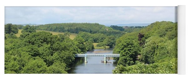 Footbridge Over The River Tees Yoga Mat