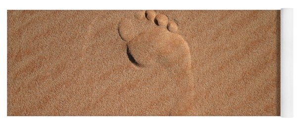 Footprint In The Sand Yoga Mat
