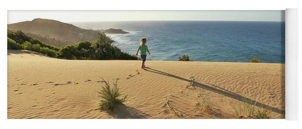 Footprints In The Sand Dunes Yoga Mat