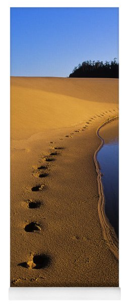 Footprints In The Sand Yoga Mat