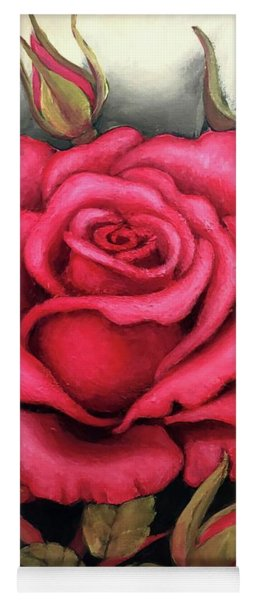 For You, The Red Rose Yoga Mat