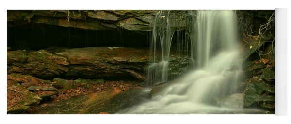 Forbes State Forest Cole Run Cave Falls Yoga Mat