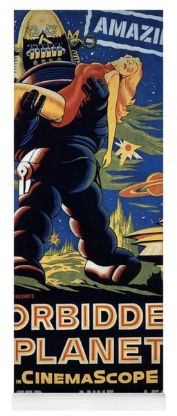 Forbidden Planet Amazing Poster Yoga Mat