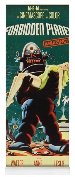 Forbidden Planet In Cinemascope Retro Classic Movie Poster Portraite Yoga Mat