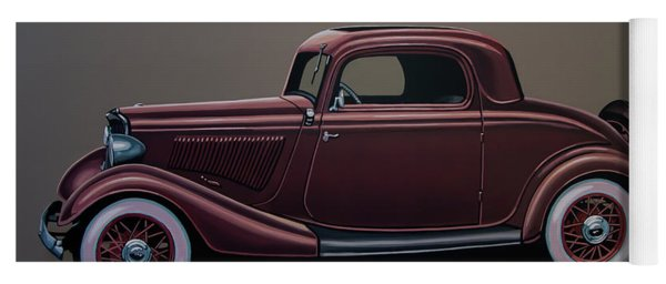 Ford 3 Window Coupe 1933 Painting Yoga Mat
