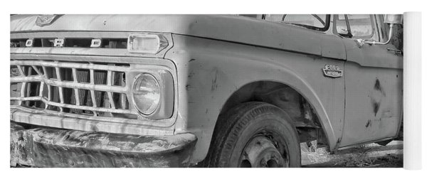 Ford F-150 Dump Truck Bw Yoga Mat