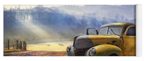 Ford In The Fog Yoga Mat