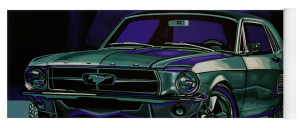 Ford Mustang 1967 Painting Yoga Mat