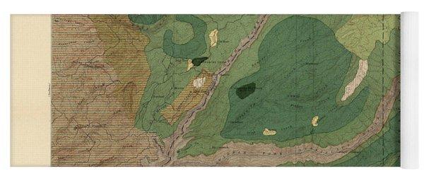 Forest Cover Map 1886-87 - Big Trees Quadrangle - California - Geological Map Yoga Mat