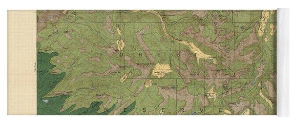 Forest Cover Map 1886-87 - Dardanelles Quadrangle - California - Geological Map Yoga Mat