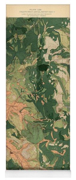 Forest Cover Map 1886-87 - Oregon Ashland Quadrangle - Geological Map Yoga Mat