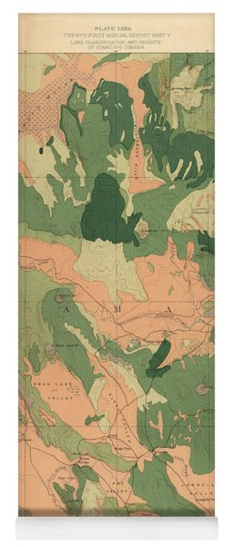 Forest Cover Map 1886-87 - Oregon Klamath Quadrangle - Geological Map Yoga Mat