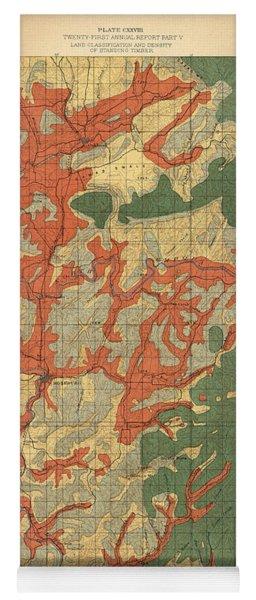 Forest Cover Map 1886-87 - Roseburg Quadrangle - Oregon - Geological Map Yoga Mat