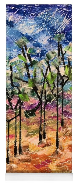 Yoga Mat featuring the painting Forest by Norma Duch