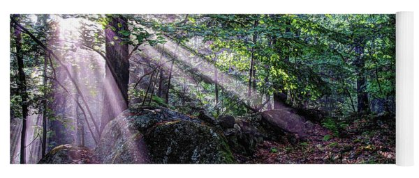 Forest Sunbeams Yoga Mat