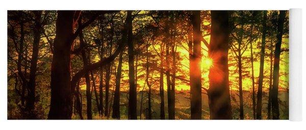 Forest Sunset Yoga Mat