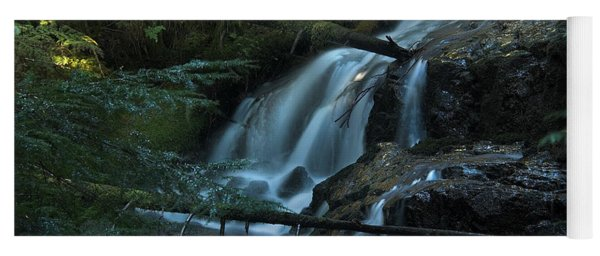 Forest Waterfall. Yoga Mat