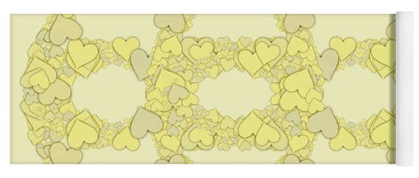 Forever Entwined Hearts Yoga Mat