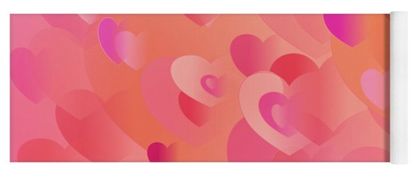 Forever Hearts Yoga Mat